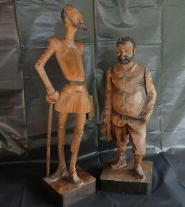 Holzfigur Don Quijote Sancho Panza Cervantes la mancha Quichotte OURO ARTESANIA