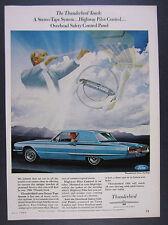 1966 Ford Thunderbird Town Hardtop blue 2-door car photo vintage print Ad