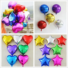 "5PCS 5"" 10"" 18""Heart Star Round Foil Helium Balloons Wedding Birthday Party"