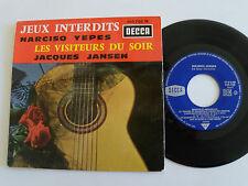 """JACQUES JANSEN: visiteurs du soir / N. YEPES: Jeux interdits 7"""" EP DECCA 460.780"""