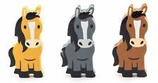 Kikkerland Pack of 3 Farm Erasers - Horses