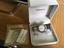 Vintage Men's Zenith Espada Watch Original Box & Exta Links Swiss Made Genuine