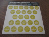 album 2 33 tours ELVIS PRESLEY ELVIS worldwide gold award hits, part 3 & 4