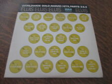 album 2 33 tours ELVIS PRESLEY ELVIS worldwide gold award hits, part 3 & 4