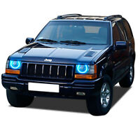 for Jeep Grand Cherokee 93-98 Blue LED Halo kit for Headlights