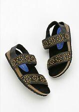 Jeffrey Campbell Black Leather Cordoba Studded Slingback Sandals Size 6 $130