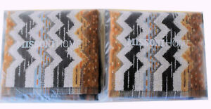 MISSONIHOME 2 PACKS OF TWO FACE CLOTHS COTTON VELOUR  PAUL BRANDED PACKAGING