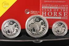 Australien Lunar II 3-Coin Set Pferd Horse 3,5 Unzen oz Silber PP