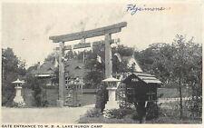 Lake Huron Michigan~Gate Entrance~Women's Benefit Association~WBA Camp~1937