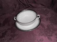 Royal Doulton England Fine Bone China Sarabande Soup Bowl With Saucer