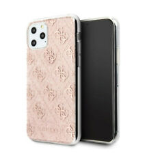 Genuine Guess 4G Silicone Rose Gold Glitter Case for iPhone 11 Pro Max