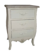 Casamoré Devon Shabby Chic 3 Drawer Bedside Table Chest Of Drawers