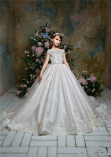 Flower Girl Dress Girl Party Prom Princess Pageant Bridesmaid Wedding +++