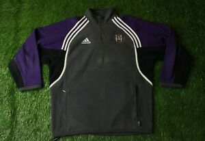 ANDERLECHT 2001-2002 FOOTBALL ZIP FLEECE SWEATSHIRT TRAINING ADIDAS ORIGINAL