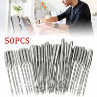 50Pc Threading Singer Sewing Machine Needles 75/11 80/12 90/14 100/16 110/18 New
