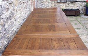 Superb 8 ft / 240 cm Solid Oak French Farmhouse Extendable Harvest Table