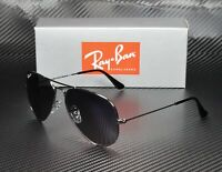 RAY BAN RB3025 004 78 Aviator Large Metal Gunmetal Polarized Blue 55m Sunglasses