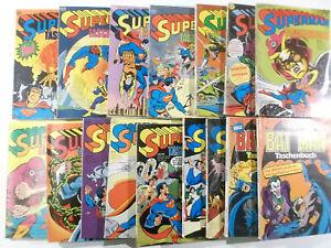 16 Stück Superman und Batman Taschenbuch Sammlung Ehapa Verlag 1976