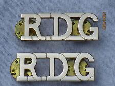 Royal Dragoon Guards, RDG, Schultertitel,Anodised Aluminium Staybright