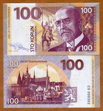 Czechoslovakia, 100 Korun, 2018, Private issue, Specimen, UNC > Masaryk
