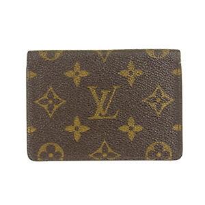 Auth LOUIS VUITTON M60533 Monogram Porte 2 Cartes Vertical Card Case 19271bkac