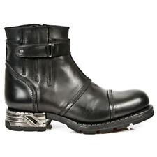 New Rock Boots M.MR013 Laarzen Zwart Leer - Goth, Punk,Gothic Alternative