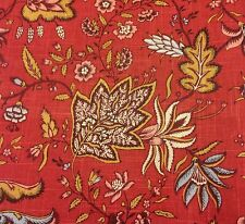 Fabricut Floral Jacobean Upholstery Fabric- Josephine/Rural Red 2.25 yd #1734504