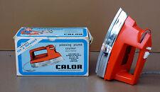 Ancien jouet fer à repasser JOLUX CALOR N°90 orange vintage enfant FONCTIONNE #1