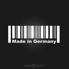 MADE in germany Autocollant DUB Dubstyle autocollant Barcode Code Barre Allemagne