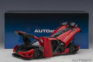Autoart Koenigsegg Agera RS Chilli Red/Carbon Black Accents 1:18*New!*VERY NICE!