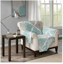 Madison Park Claire Reversible Green & Grey 65in X 75in Chair Cover Protector