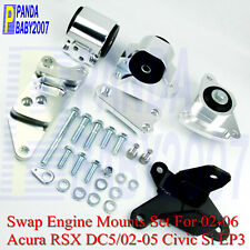 Engine Swap Motor Mount Kit For 02-06 Acura RSX DC5 02-05 Honda Civic Si EP3 K20