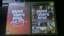 Grand Theft Auto: Vice City & San Andreas (Microsoft Xbox, 2003-2005) **TESTED**
