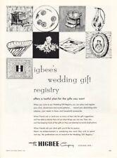 Vintage advertising print ad Bride 1956 Higbee's Wedding Gift Registry Cleveland