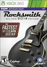 NEW XBOX 360 ROCKSMITH 2014 Authentic Guitar Games & Real Tone *CABLE* *Sealed*
