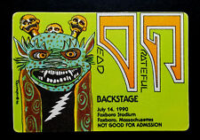Grateful Dead Backstage Pass Lightning Bolt Voodoo Monster 7/14/1990 Foxboro Ma