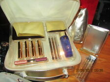 Limited Ed 18 Pieces:Eyeshadows,Brushes, Lipsticks,Makeup Set Vanity Case n GOLD
