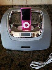 Memorex MI3XSL MiniMove Portable Boombox iPod Dock FM Radio. Pink 8GB Apple ipod