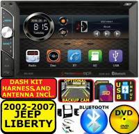 2002-2007 JEEP LIBERTY CD/DVD BLUETOOTH USB SD AUX TOUCHSCREEN CAR RADIO STEREO