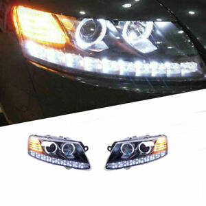 For Audi a6 05-11 LED Daytime Running lights Dynamic Signal Xenon Lo/Hi Beam