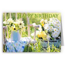 Summer Garden Birthday Card - Daisies Flowers