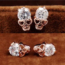 1 Pair New Diamante Crown Skeleton Skull  Ear Stud Earrings. Various Designs