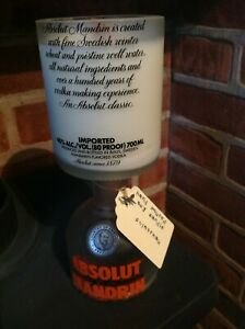 Upcycled Soy 70cl Vodka bottle candle fragranced Cointreau