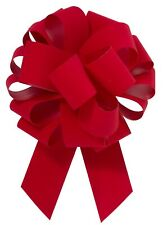 """10 - 10.5"""" Red Velvet Pull Bow Pew Bows Wedding Decorations Christmas Gift Wrap"""