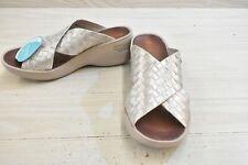 Bzees Dusty Sandals, Women's Size 9 M, Silver MSRP $58.95