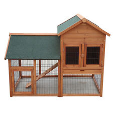 XLARGE 150*98*120CM Rabbit Guinea Pig Ferret Coop House Hutch Cage With Run T015