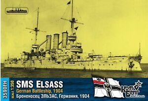 """# Combrig 3590FH  Kaiserl.Dt. Linienschiff """"SMS ELSASS """" 1904 / RESIN -Kit 1:350"""