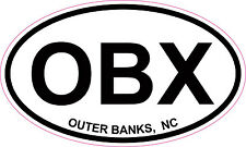 Outer Banks OBX North Carolina Oval Vinyl Sticker Decal 5x3