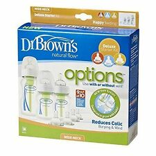 Dr Brown's Options Wide Neck Starter Kit Baby Feeding Bottles - Wb03005