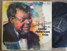OSCAR PETERSON TRIO ORIGINAL MONO VERVE JAZZ LP SWINGING BRASS / NEAR MINT!
